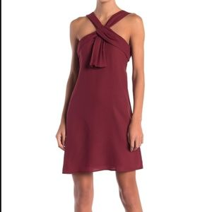 CeCe V-Neck Pleat Front Shift Dress - 2 *NEW*